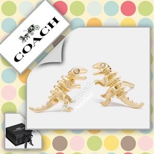 NIB COACH Mini Demi-Fine Rexy Stud Earrings